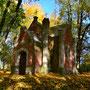 Eichmedien - Nakomiady, Ostpreussen - Polen (um 2012), Kapelle im Park