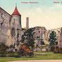 Burgruine Hapsal - Haapsalu, Estland (hist. Ansicht)
