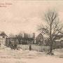 Mallinken - Malinka, Ostpreussen, Polen (um 1915), Das zerstörte Rittergut