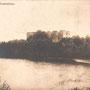 Ruine der Ordensburg Grobin - Grobina, Kurland - Lettland (um 1917)