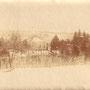 Unbekanntes Herrenhaus, vermutlich Galizien, Ortsquartier der Eisenbahn Bau Kompanie (1917)
