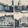 Langheim - Lankiejmy, Ostpreussen - Polen (um 1933), Schloss und Gutshaus