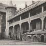 Schloss Königsberg - Kaliningrad, Ostpreussen, Russland, Kaliningrad (um 1917), Innenhof mit Eingang zum Lokal Blutgericht