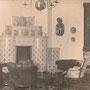 Prassen - Prosna, Ostpreussen - Polen (1913), der blaue Salon