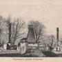 Das abgebrannte Gutshaus Pulkarn - Pulkarne, Kurland - Lettland (um 1916), Rückseite