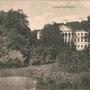Schloss Katzdangen - Kazdanga, Kurland, Lettland (um 19015), Parkseite