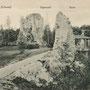 Ruine Burg Segewold - Sigulda, Livland, Lettland (hist. Ansicht)