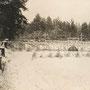 Lyntupy, Byschewsky-Palast, Wilna - Belarus (historische Aufnahme im 1. WK), Heldenfriedhof in Lyntupy
