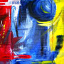 red, blue, yello - Acryl auf Karton