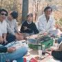 メンバーと紅葉狩り(1988.10.23)