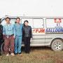 バルーニスト藤田雅彦さん(左から2人目)の熱気球に乗せていただくことに!
