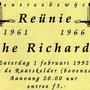 Entreebewijs reünie The Richards op 1 februari 1992 in de Raatskelder