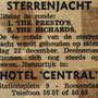 Sterrenjacht in Hotel Central in september 1962