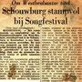 Krantenartikel songfestival 20-04-1963 in Schouwburg de Kring (deel 1)