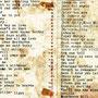 Repertoirelijstje van Les Richards uit april 1965.