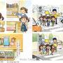 『小学道徳 あすをみつめて 2年』 本文挿絵(日本文教出版株式会社)