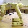 Papiermachéfiguren Aufbau Flugdrache