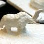 Elefant in Gips