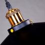 ferro ottone lampada sospensione edison