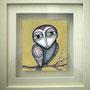 BIRD BOY. Disponible. Acuarela y acrílico sobre papel. 14,5 x 13cm (28 x 26cm marco). 80€