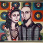 SINGLES IN MARRIAGE. Encargo personalizado. Acrílico sobre tabla. 60 x 70cm (68 x 78cm marco)