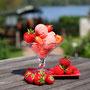 selbst gemachtes Erdbeereis