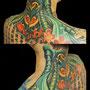 タトゥー 首 バイオメカ カラー リアル