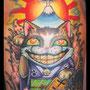 タトゥー 招き猫 カラー 富士山 ラッキーアイテム 縁起物 日本