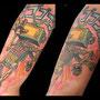 タトゥー カラー 腕 テレビ ロボット ニュースクール