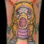 タトゥー メカ ロボット ワンポイント カラー かわいい