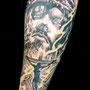 タトゥー B&G キリスト 十字架 リアル ポートレート 腕