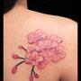 タトゥー 桜 ピンク 背中