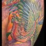 タトゥー 鳳凰 和風 和柄 カラー 腕