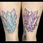 タトゥー ジュエリー 水晶 カラー 青 紫 対
