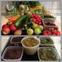 Gemüse (vorher/nachher)
