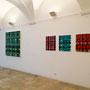 Ausstellungsansicht AUS PRINZIP,  Malerei von Monika Humm