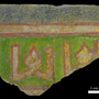 Echantillon BDX 11870. Fouilles de l'Ak Saray de 1996.  Conservé au Musée Amir Temur de Shahrisabz (photo : C.Ollagnier, 2008)