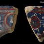 Echantillon BDX 11886. Fouilles de l'Ak Saray de 1996.  Conservé au Musée Amir Temur de Shahrisabz (photo : C.Ollagnier, 2008)