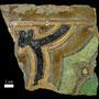 Echantillon BDX 11876. Fouilles de l'Ak Saray de 1996.  Conservé au Musée Amir Temur de Shahrisabz (photo : C.Ollagnier, 2008)