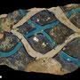 Echantillon 550/73. Fouilles de l'Ak Saray de 1996.  Conservé au Musée Amir Temur de Shahrisabz (photo : C.Ollagnier, 2008)