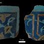Echantillon 592/14. Fouilles de l'Ak Saray de 1996.  Conservé au Musée Amir Temur de Shahrisabz (photo : C.Ollagnier, 2008)