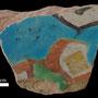 Echantillon BDX 11869. Fouilles de l'Ak Saray de 1996.  Conservé au Musée Amir Temur de Shahrisabz (photo : C.Ollagnier, 2008)