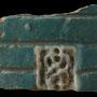 Echantillon 550/34. Fouilles de l'Ak Saray de 1996.  Conservé au Musée Amir Temur de Shahrisabz (photo : C.Ollagnier, 2008)