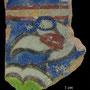 Echantillon BDX 11873. Fouilles de l'Ak Saray de 1996.  Conservé au Musée Amir Temur de Shahrisabz (photo : C.Ollagnier, 2008)