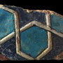 Echantillon 550/78. Fouilles de l'Ak Saray de 1996.  Conservé au Musée Amir Temur de Shahrisabz (photo : C.Ollagnier, 2008)
