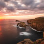 Enys Dodnan Arch at Sunset (Land's End, England)