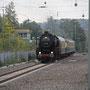 Einfahrt des Sonderzuges zur Fahrgastaufnahme in Ratingen Ost - Foto: Bernd Bastisch