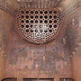 Blick auf den herausgetrennten Bereich des Verbrennungskammerbodens