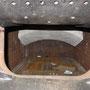 Vollständig eingebaute Roststäbe in der Feuerbüchse