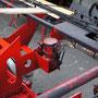 Fett- und Luftleitungen der Spurkranzschmierung für die erste und letzte Kuppelachse